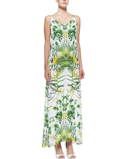Alice + Olivia Dove Printed Racerback Maxi Dress