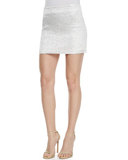 Alice + Olivia Elana Shiny Mini Skirt