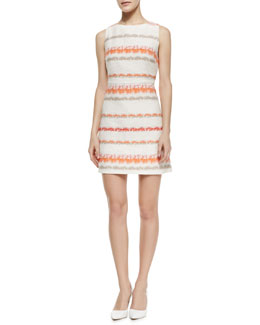 Alice + Olivia Eli Knit Boat-Neck Dress