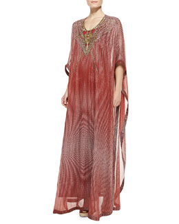 Diane Von Furstenberg Clare Bead-Tech Maxi Coverup Dress