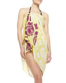 Diane Von Furstenberg Security Blanket Printed Sarong