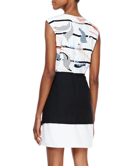Grand Design Printed-Top Sleeveless Dress, Multicolor