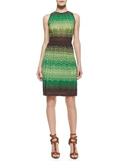 M Missoni Sleeveless Zigzag Tank Dress