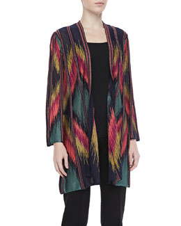 M Missoni Ikat Metallic Long Cardigan
