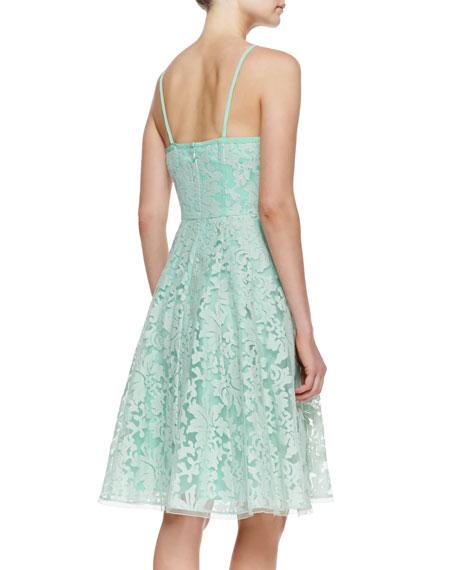 Beach Breeze Lace Sleeveless Dress, Green