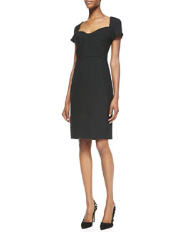 Diane von Furstenberg Katrina Cap-Sleeve Sheath Dress