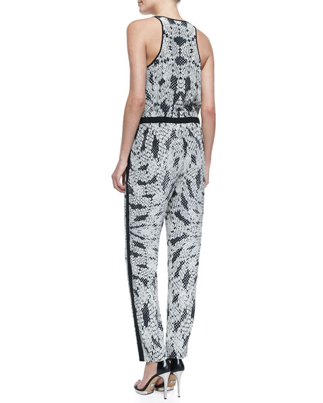 Shany Panther Lace-Print Jumpsuit