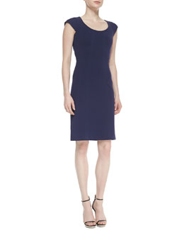 Diane von Furstenberg April Cap-Sleeve Scoop-Neck Sheath Dress