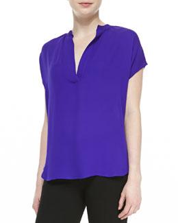 Diane von Furstenberg Alana Short-Sleeve V-Neck Shirt