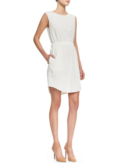 Theory Crunch Sleeveless Easy-Waist Dress