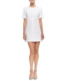 Theory Palatial Twill Short-Sleeve Dress