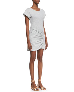Theory Sunly Slub Wrap Tee Dress