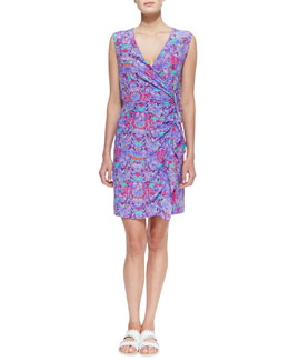 Nanette Lepore Printed Ruffled Silk Dress