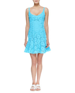 Nanette Lepore Summer Eyelet Ruffle-Hem Dress