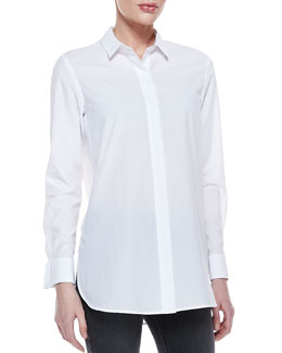 Theory Daithi Button-Down Blouse
