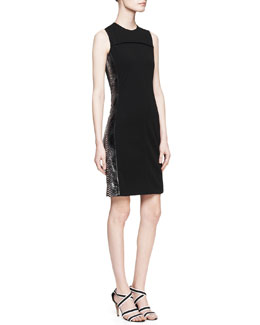 Reed Krakoff Sleeveless Python-Stripe Dress