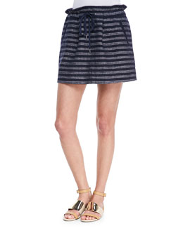 MARC by Marc Jacobs Dalea Pleated Silk Tweed Skirt