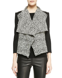Alice + Olivia Burma Jacket With Leather Detail