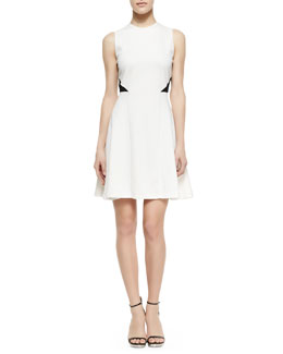 Alice + Olivia Two-Tone Fit And Flare Dress