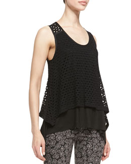MARC by Marc Jacobs Yuki Sleeveless Layered Eyelet Top