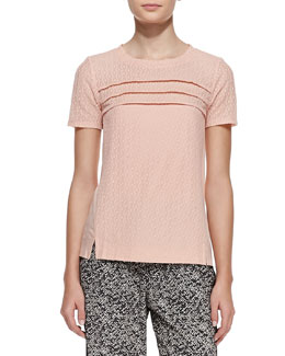 MARC by Marc Jacobs Addy Lace-Pattern Silk Top