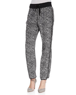 MARC by Marc Jacobs Karoo Printed Silk Track Pants