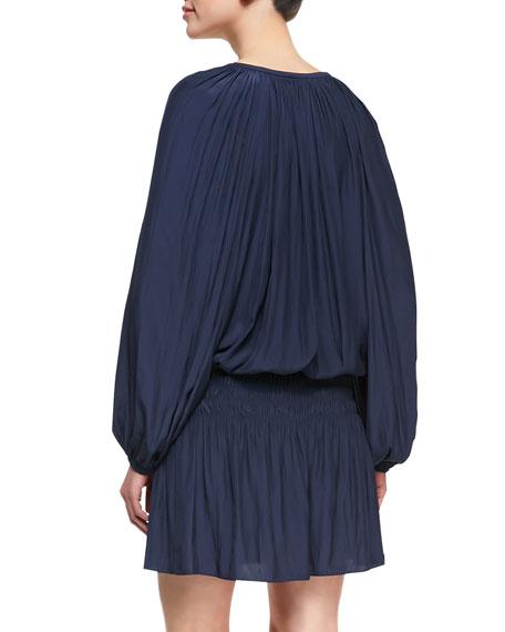 Paris Blouson Drop-Skirt Dress