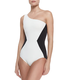 MARC by Marc Jacobs One-Shoulder Maillot