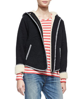 MARC by Marc Jacobs Willier Quilted-Knit Hooded-Jacket