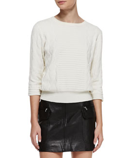 MARC by Marc Jacobs Lucinda Mix-Texture Knit Sweater