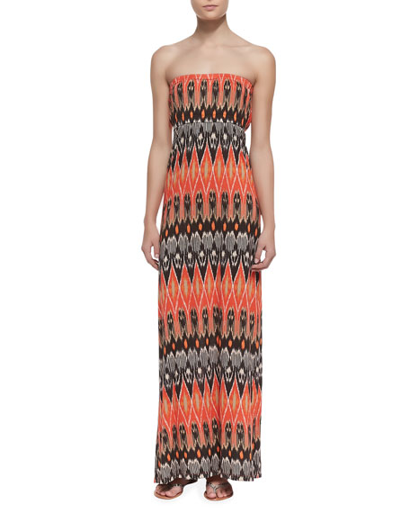 Ruma Ikat-Print Jersey Maxi Dress