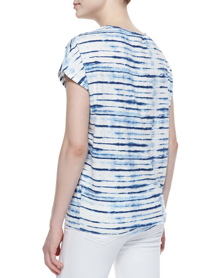 Diamond B Striped Slub Tee