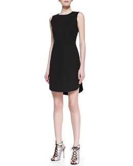 Theory Rishi Palatial Boat-Neck Dress