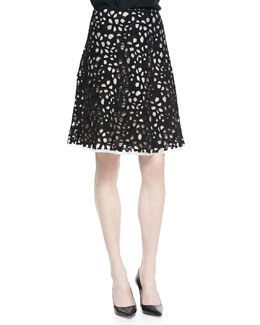 Elie Tahari Connie Full Bramble Lace Skirt