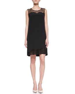 Elie Tahari Suellan Sleeveless Web-Lace Dress