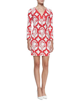 Diane von Furstenberg New Reina Two Printed Silk Dress