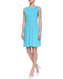 Elie Tahari Callie Sleeveless Flared-Skirt Dress