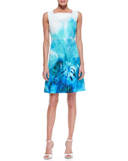 Elie Tahari Melany Sleeveless A-Line Silk Dress