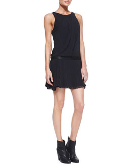 Rag & Bone Vanessa Sleeveless Dress With Pleats