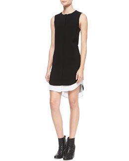 Rag & Bone Longtail Double-Hem Shirtdress