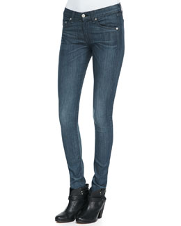 rag & bone/JEAN The Skinny Pinner Faded-Knee Jeans