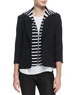 Veronica Beard Schoolboy Jacket with Detachable Dickey