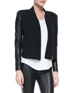 Helmut Lang Eon Felt/Leather Jacket