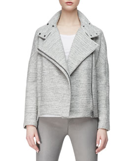 J Brand Ready to Wear Pallenberg Knit Moto Jacket