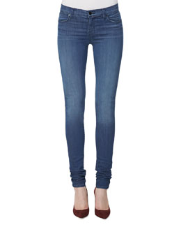 J Brand Jeans 624 Mid-Rise Stacked Super Skinny Jeans, Low