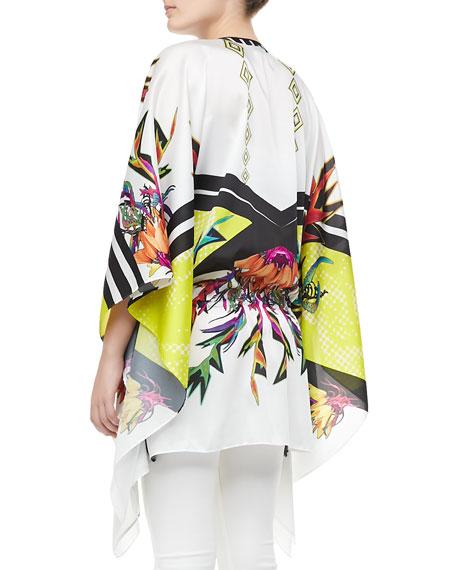 Printed Silk Caftan