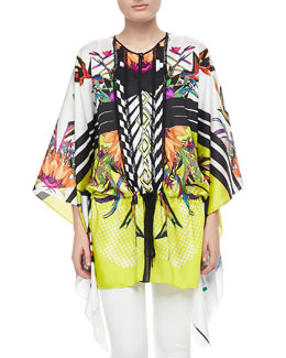 Just Cavalli Printed Silk Caftan