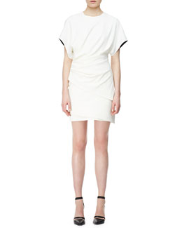 Helmut Lang Asymmetric Draped Jersey Dress
