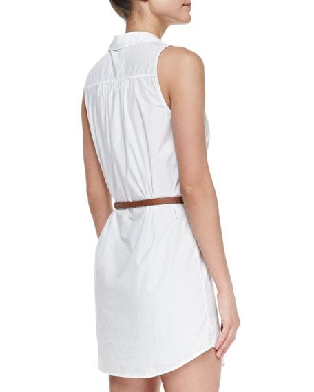 Darlena Sleeveless Belted Cotton Shirtdress