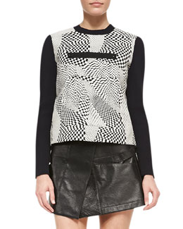 Opening Ceremony Technotronic Jacquard Long-Sleeve Pullover